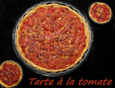 recette de la délicieuse tarte à la tomate