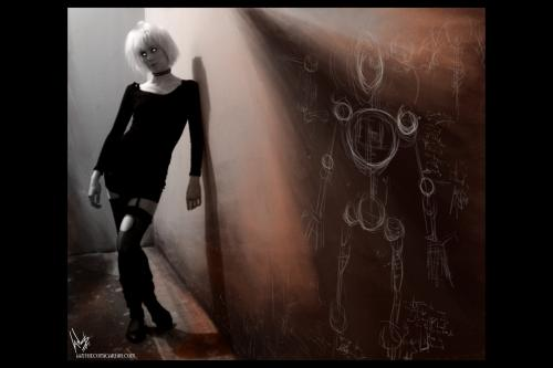 Gothic Toy Doll Blonde, Gothic Girls
