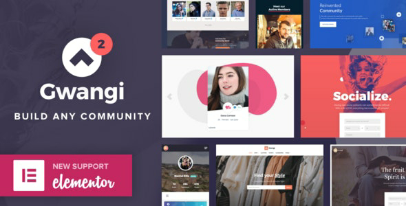 Gwangi v2.1.1 – PRO Multi-Purpose Membership, Social Network & BuddyPress Community Theme