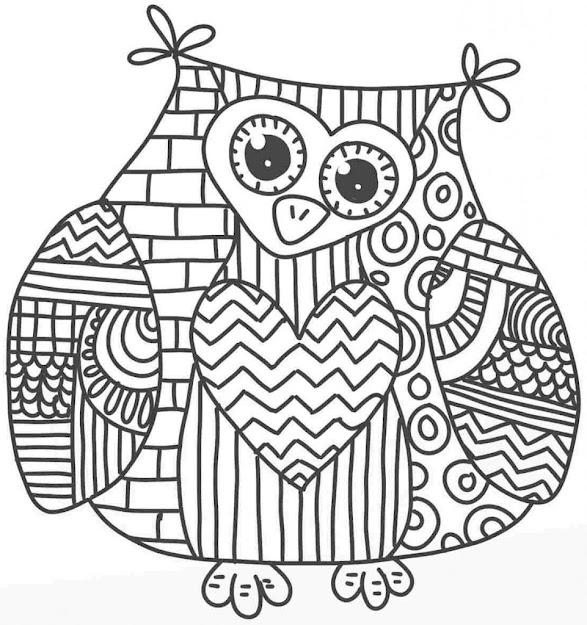 Owl Mandala Coloring Pages Owl Mandala Coloring Page Xpx