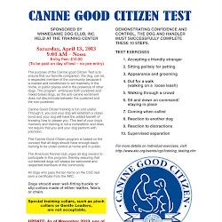 Canine Good Citizen Test 4-13-13