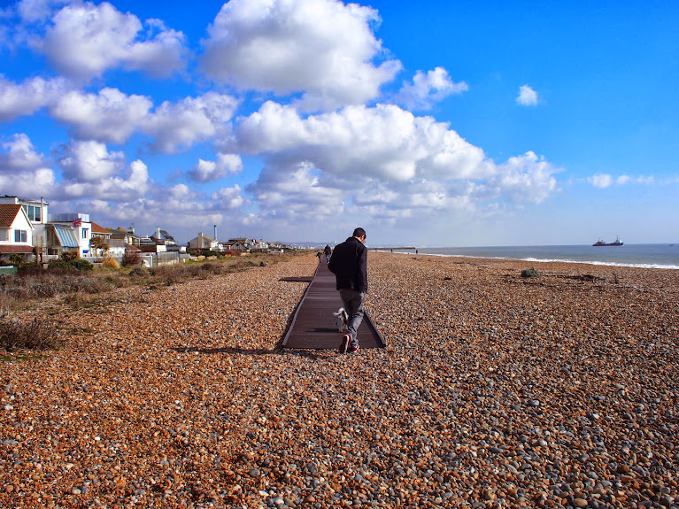 jon and bruce on the beach march 2014 shoreham