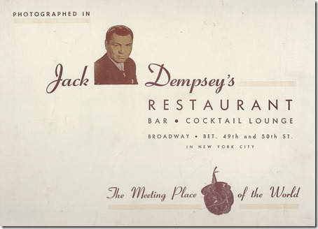 Jack Dempsey Restaurant
