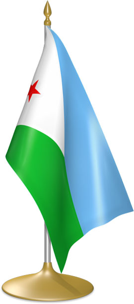 Djiboutian table flags - desk flags