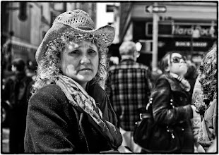 Photo: It was a cold day in New York City. I couldn't resist taking a photo of her. Times Square, NYC #streetphotography www.leannestaples.com
