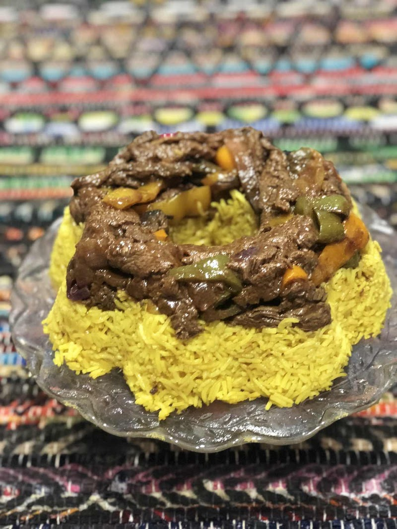 Curry Rice Stuffed With Steak Fajitas
