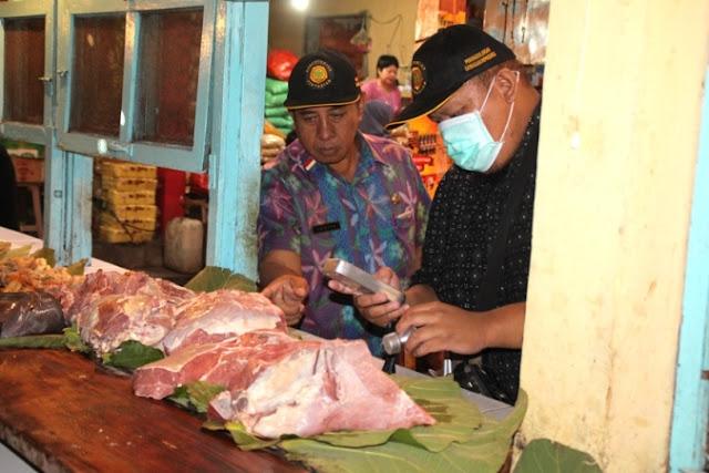 Sepekan jelang lebaran, Dispernak Ngawi sidak pasar daging