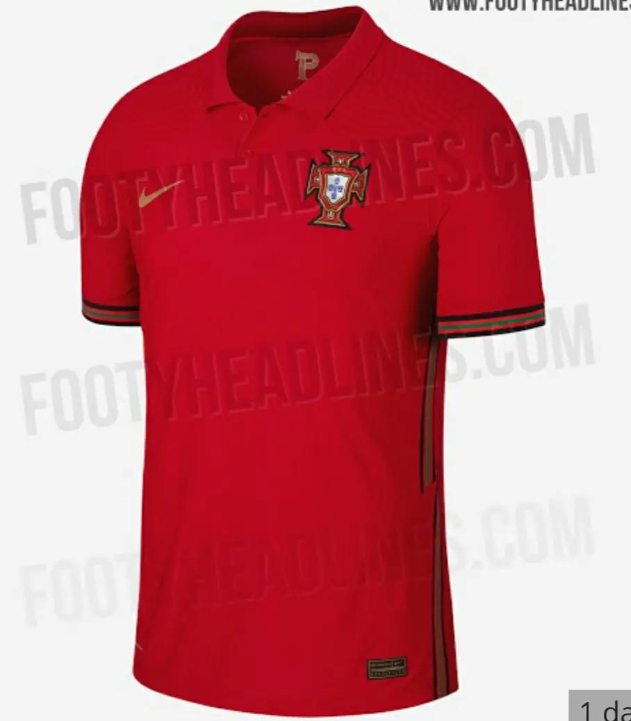 gambar desain terbaru Bocoran Jersey Portugal Home Euro 2020