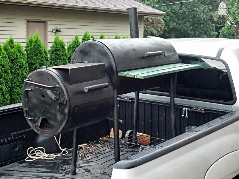 Modifying the new braunfels hondo and black diamond smoker grill.
