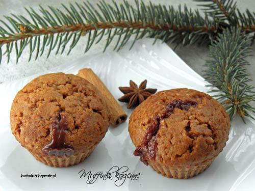 Muffinki korzenne z czekolada