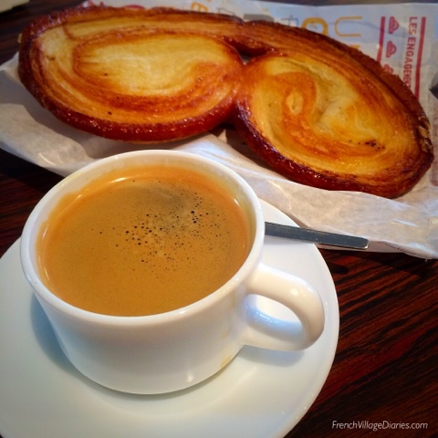 French Village Diaries Yellow July #TDF2017 palmiers coffee