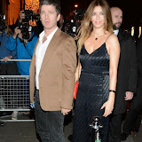 WWW.ENTSIMAGES.COM -    Noel Gallagher and Sara Macdonald     arriving     at Afterparty of  The screening of the new Annabel's Docu-Film A String Of Naked Lightbulbs at Annabels London October 28th 2014                                                Photo Mobis Photos/OIC 0203 174 1069