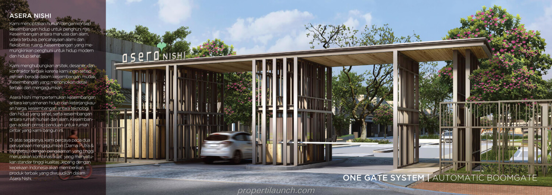 Gate Cluster Asera Nishi Harapan Indah Bekasi