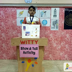Show and Tell Activity - Space (SR.KG. ABC) 25-1-2018
