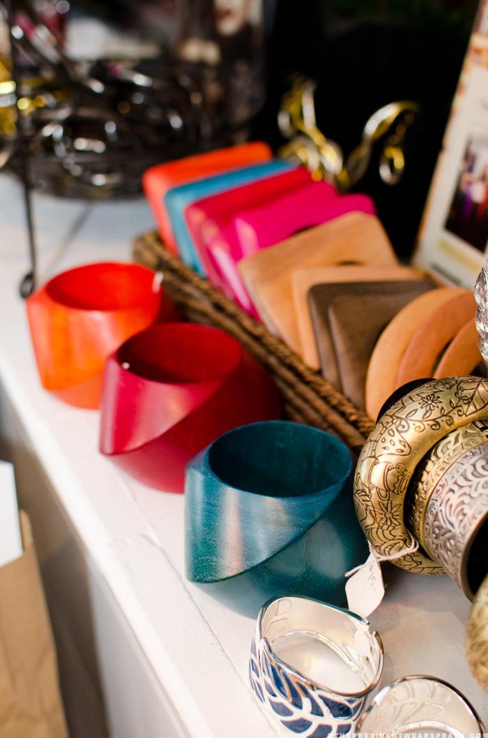Bracelets at vintage fashion week