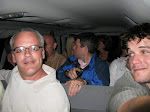 13 of us packed into a van to drive 2 blocks to a bar...Joel wasn't prepared for my picture taking habits