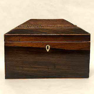 Marquetry Inlaid Rosewood Box