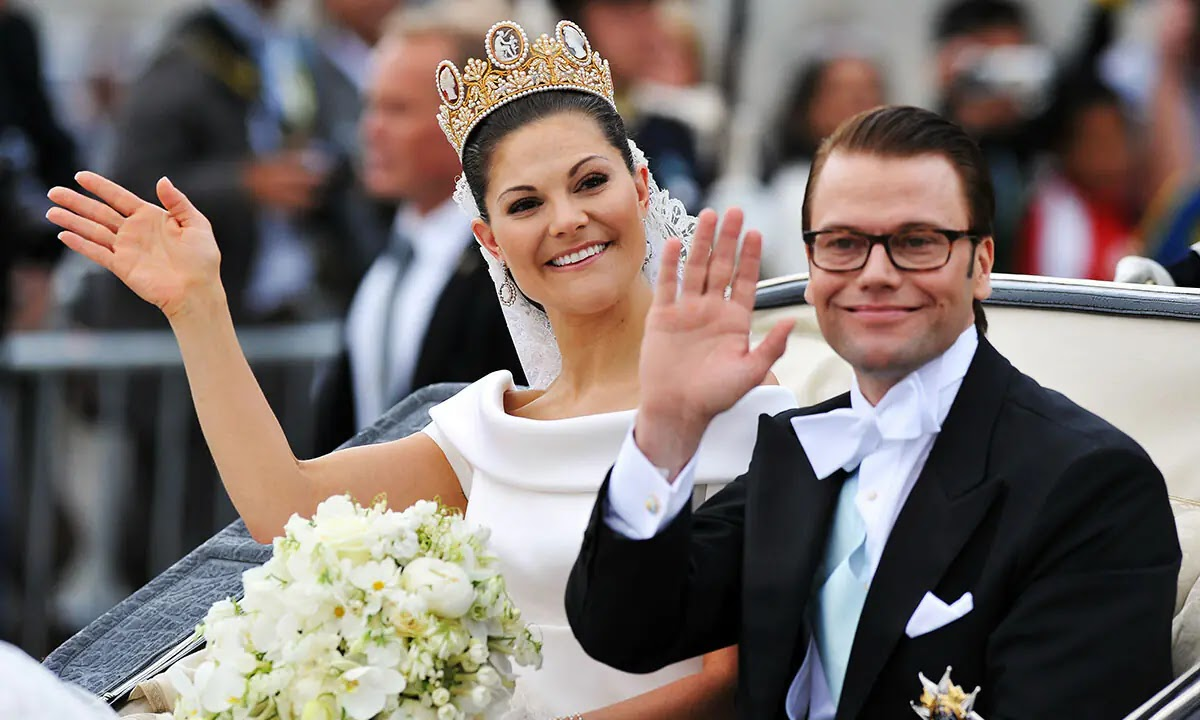 Crown Princess Victoria Winks in Never-Seen-Before Wedding Photo to Mark her Birthday