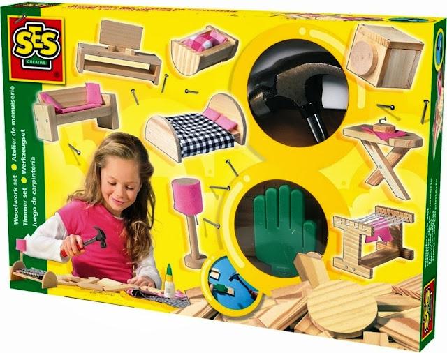 Bộ Bộ đồ chơi Thợ mộc làm đồ nội thất SES dành cho bé gái