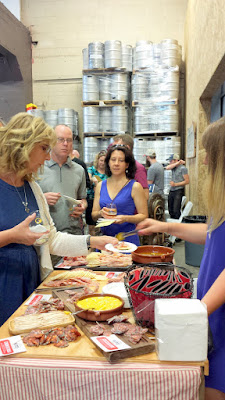 Portland Beer and Cheese Fest 2015, charcuterie and crackers and pickles and a touch of mustard offered by Olympia Provisions helped compliment the beer and cheese pairings