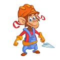 Cartoon Style Monkey Illustration Free Download Vector CDR, AI, EPS and PNG Formats