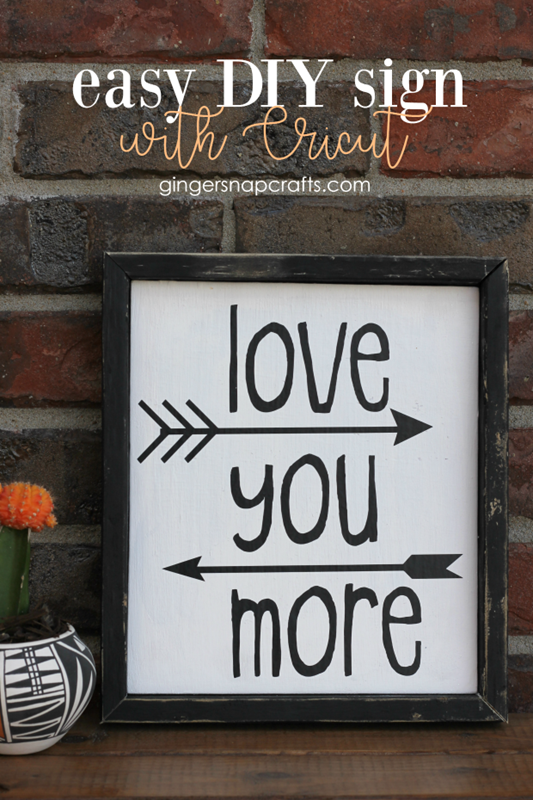 Easy DIY sign with Cricut at GingerSnapCrafts.com #madewithCricut