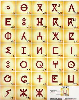 le saviez vous ? Les grands Berbères historiques Alphabet_tifinagh