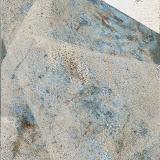 """'Sea Scrape-Foam' 3""""x4"""" montype,oil and sterling silver leaf on panel"""