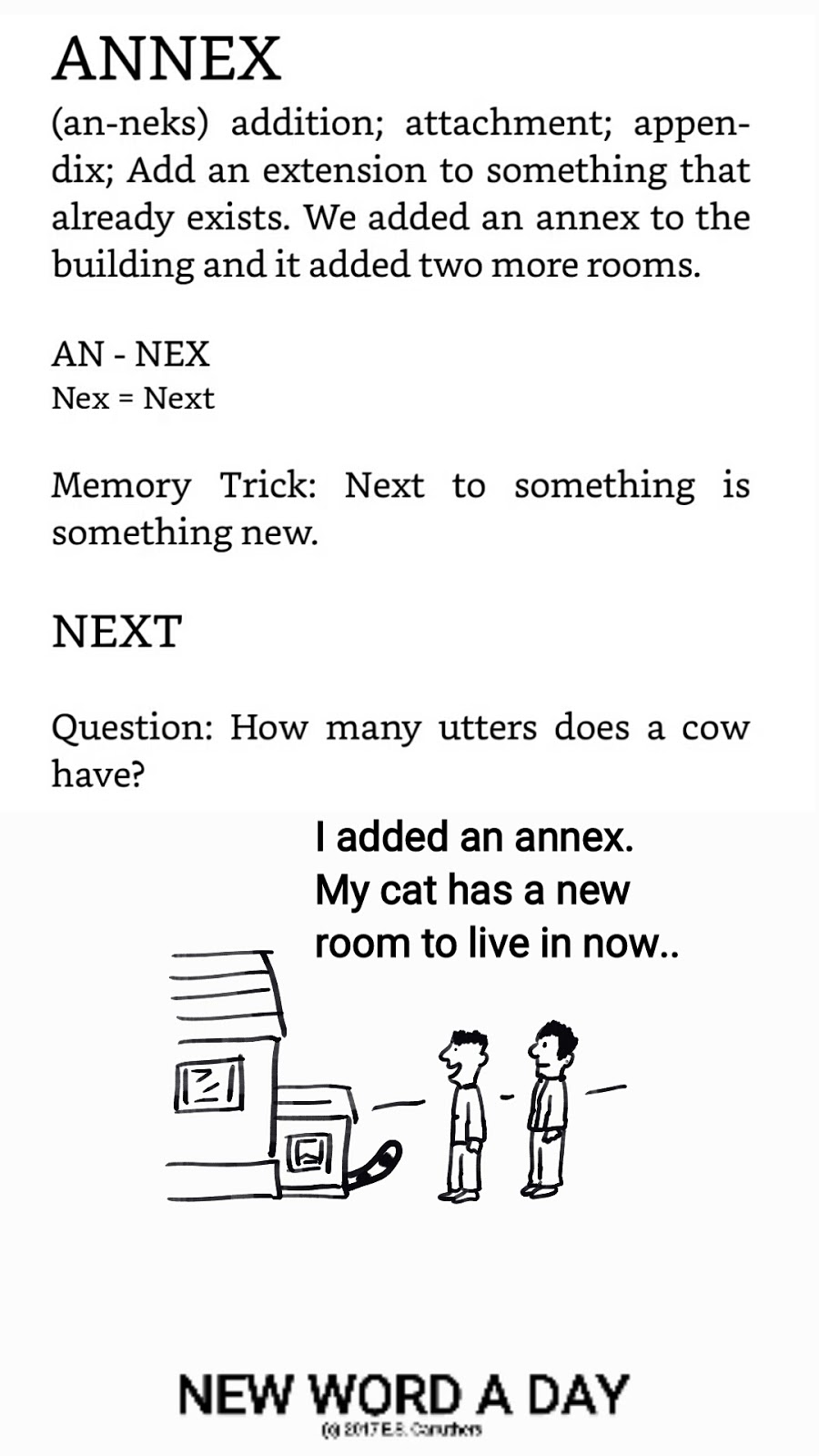 what is the meaning of the word annex