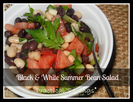 weight watcher's black & white bean salad - practicalsavings.net