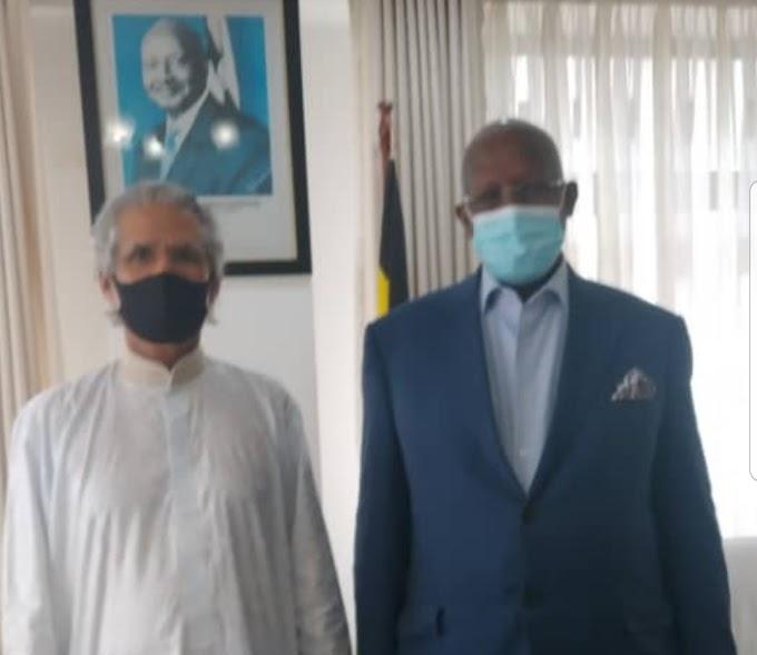 El Ministro de Relaciones Exteriores de la República se reúne en Kampala con su homólogo ugandés.