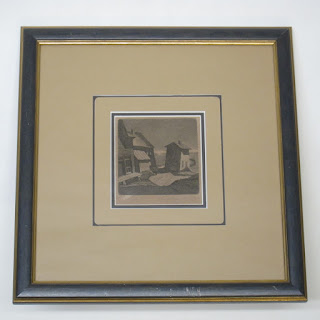 George Jo Mess Signed Aquatint Etching