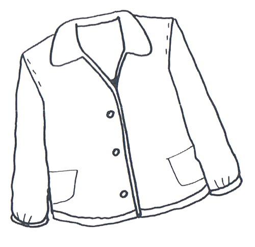 Imagenes de chaquetas para colorear
