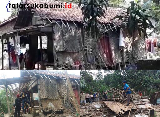 Berbagai Komunitas Bergabung, Bedah Gubuk Ibu Hamil Tua di Sukabumi