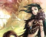 Elven Warrior Girl Near Great Tree