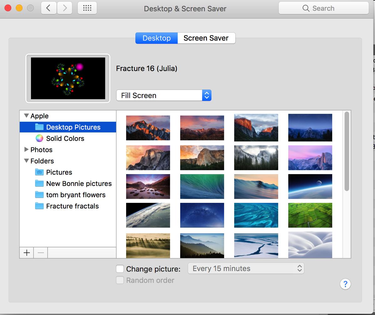 9 Desktop  Screensaver preference