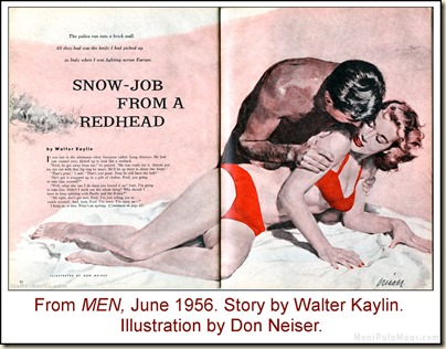 01A - MEN, June 1956 - Walter Kaylin, art Don Neiser