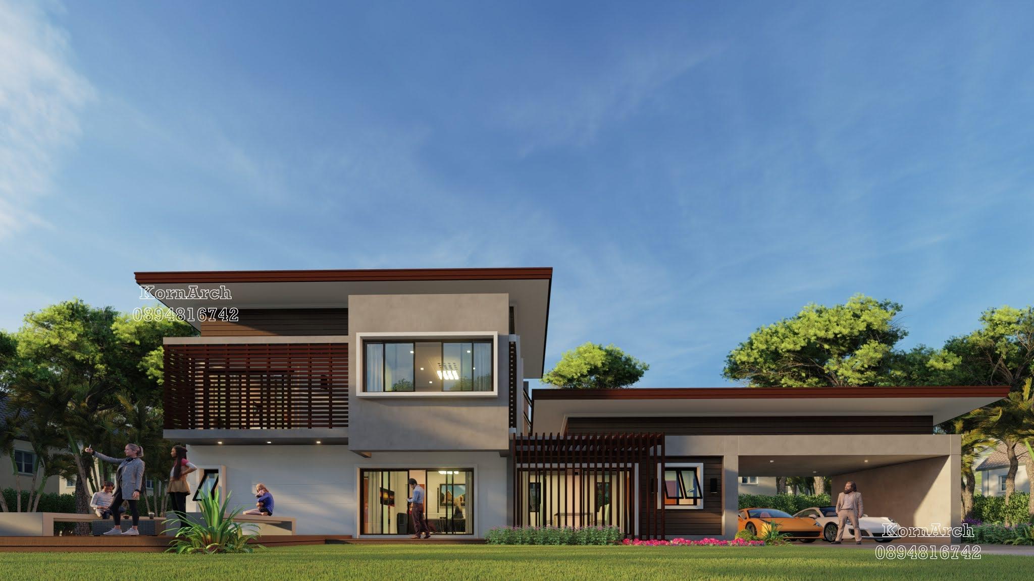 รับออกแบบบ้าน2ชั้น  เจ้าของอาคาร คุณบุญช่วย วิถาระพันธ์ สถานที่ก่อสร้าง ต.มหาไชย อ.สมเด็จ จ.กาฬสินธุ์