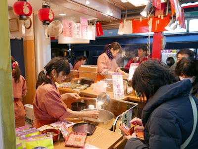 Amazake that is sweet and low alcohol from the same store on Nakamise Shopping Street at Sensoji Temple in Asakusa
