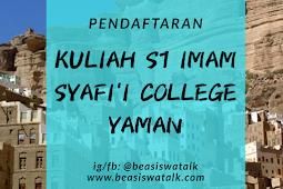 Pendaftaran Kuliah S1 Imam Syafi'i College Hadramaut Yaman 2020