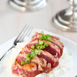 Grilled Soy-Ginger Ahi Tuna.