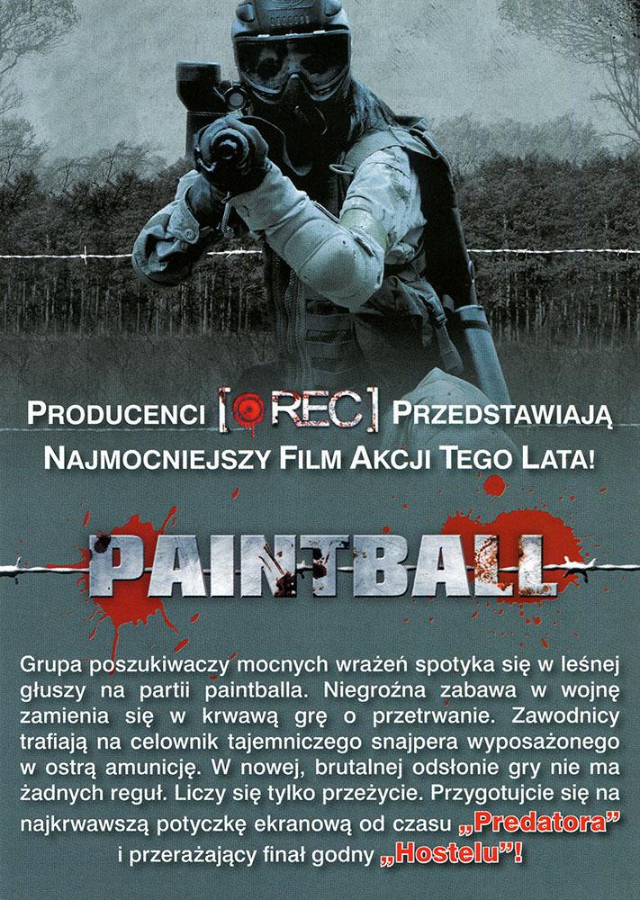 Ulotka filmu 'Paintball (tył)'