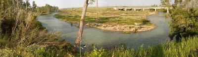 río Gállego Zuera puennte ferroviario