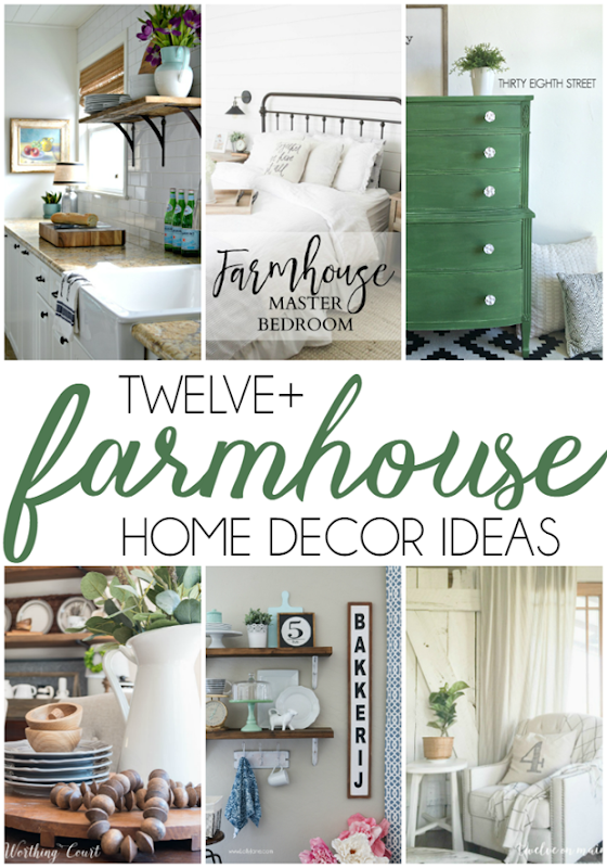 Over 12 Farmhouse Home Decor Ideas at GingerSnapCrafts.com #farmhouse #homedecor #forthehome