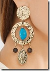 Oscar de la Renta gold plated clip earrings