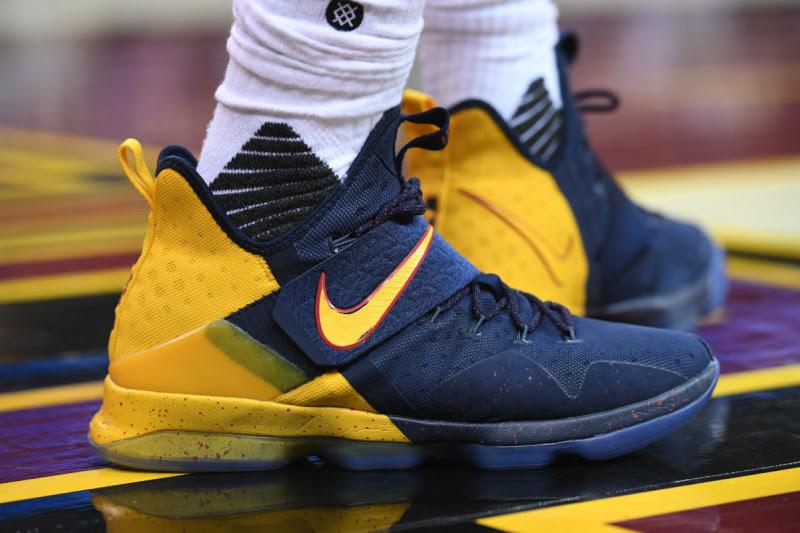 King James Debuts Nike LeBron 14 Cavs Alternate PE in OT Loss ... 98a1cd17d