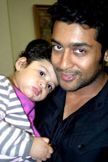 Suriya's Son And Daughter Stills With MS Dhoni | Images Pics Photos Gallery Pictures Wallpapers