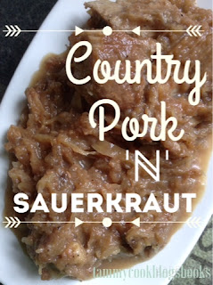 Country Pork 'n' Sauerkraut ~ source:tammycookblogsbooks