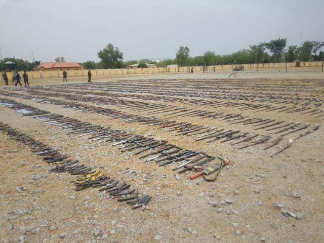 Nigerian Government Destroys 5,870 Illegal Arms Recovered In Zamfara