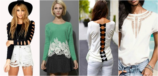 Mystylespots: 10 DIY T-Shirt Cut-Out Style Designs